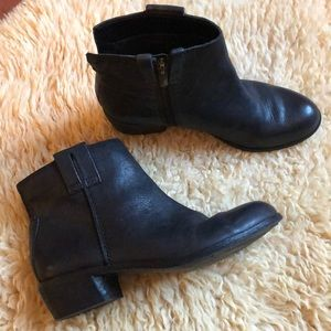 Sam Edelman James Black Leather Boots Size 6.5